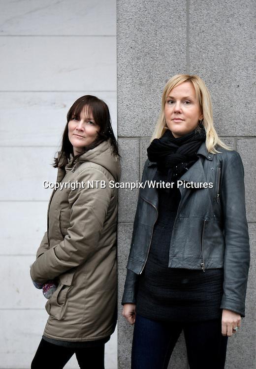 OSLO  20100120.<br /> De svenske forfatters&macr;strene &asymp;sa Tr&permil;ff (t.v.) og Camilla Grebe fotografert i Oslo onsdag. Sammen har de skrevet kriminalromanen &quot;En slags fred&quot;.  <br /> Foto: Erlend Aas / Scanpix<br /> <br /> NTB Scanpix/Writer Pictures<br /> <br /> WORLD RIGHTS, DIRECT SALES ONLY, NO AGENCY