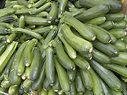organic zucchini displayed at a green market
