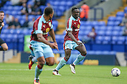 Dan Agyei (Burnley) running with the ball during the Pre-Season Friendly match between Bolton Wanderers and Burnley at the Macron Stadium, Bolton, England on 26 July 2016. Photo by Mark P Doherty.