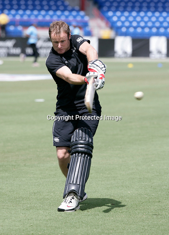 Aaron Redmond during a warm up. New Zealand Black Caps v Sri Lanka, international exhibition Twenty 20 cricket match, Central Broward Regional Park, Florida, United States of America. 23 May 2010. Photo: Barry Bland/PHOTOSPORT