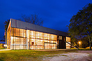 Photographed for the American Institute of Architect's (AIA) in 2016, to promote their Blueprint for Better Film Challenge Campaign. The campaign invites filmmakers around the world to create documentary shorts showing how architecture is serving the community. Founded in 1993, Rural Studio is an Auburn University design/build program in Newbern, Alabama whose ethos is that everyone, both rich and poor, deserve the benefit of good design. Located in Alabama's Black Belt Region, an underserved and rural area, Rural Studio has completed over 170 projects to date—from homes to community centers to municipalities—in the surrounding three counties and has paved the way for similar programs around the world to find the way best to serve their own communities   Pictured: Newbern Fire Station