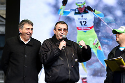 Jelko Gros and Andrej Stare during reception of Slovenian Winter athletes after the end of season 2015/16, on March 22, 2016 in Kongresni trg, Ljubljana, Slovenia. Photo by Matic Klansek Velej / Sportida