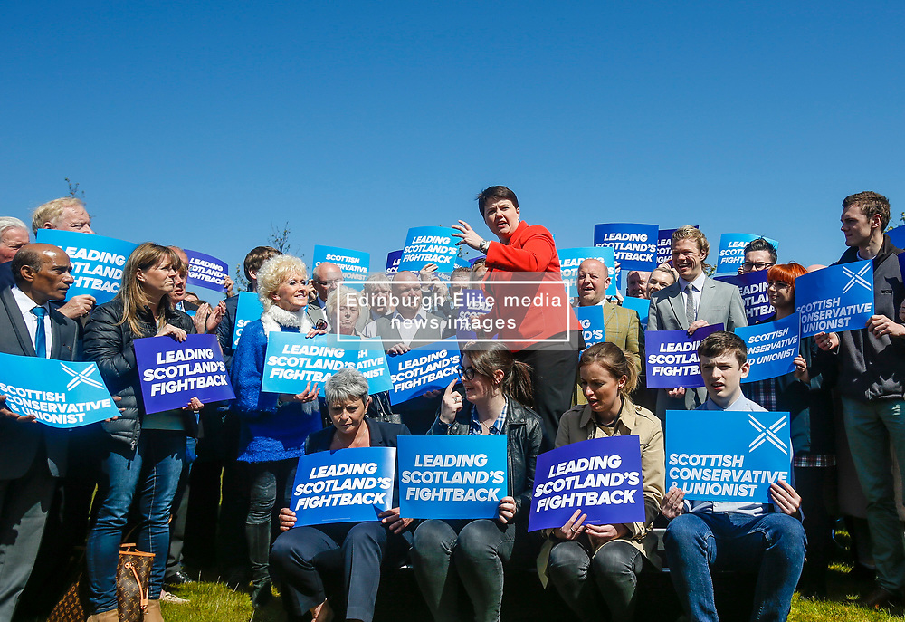 Ruth Davidson launches election campaign. The Scottish Conservative leader gives a speech to activists to Edinburgh's Glasshouse Hotel