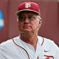 June 03, 2011; Tallahassee, FL, USA; Florida State Seminoles head coach Mike Martin stands outside the dugout before theTallahassee regional of the 2011 NCAA baseball tournament against the Bethune-Cookman Wildcats at Dick Howser Stadium. Mandatory Credit: Derick E. Hingle