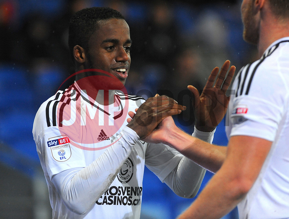 Ryan Sessegnon of Fulham celebrates his goal with team mates - Mandatory by-line: Nizaam Jones/JMP- 26/12/2017 -  FOOTBALL - Cardiff City Stadium - Cardiff, Wales -  Cardiff City v Fulham - Sky Bet Championship