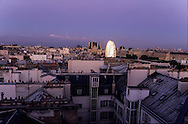 France. Paris. elevated view. roofs and the Louvre museum. view from  the hotel Meurice.