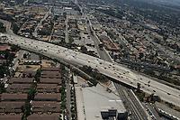 Aerial view of Highway in Los Angeles