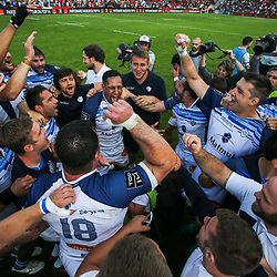 Mathieu Babillot of Castres celebrate the victory during the French Top 14 Playoffs match between Stade Toulousain and Castres at Stade Ernest Wallon on May 19, 2018 in Toulouse, France. (Photo by Laurent Frezouls/Icon Sport)
