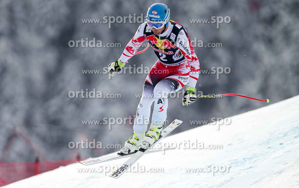 20.01.2015, Streif, Kitzbuehel, AUT, FIS Ski Weltcup, Abfahrt, Herren, 1. Training, im Bild Georg Streitberger (AUT) // Georg Streitberger of Austria in action during first practice run for the mens Downhill of Kitzbuehel FIS Ski Alpine World Cup at the Streif Course in Kitzbuehel, Austria on 2015/01/20. EXPA Pictures © 2015, PhotoCredit: EXPA/ Johann Groder