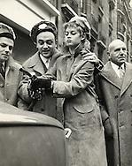 Paris 1959.<br /> Brigitte Bardot and George Gu&eacute;tary promoting a Renault car called &quot;La Floride&quot;<br /> <br /> Paris 1959 .<br /> Brigitte Bardot et George Gu&eacute;tary durant le lancement d'une voiture Renault appel&eacute; &quot; La Floride&quot;