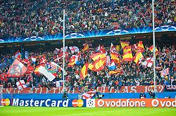 MADRID, SPAIN - Wednesday, October 22, 2008: Club Atletico de Madrid supporters during the UEFA Champions League Group D match against Liverpool at the Vicente Calderon. (Photo by David Rawcliffe/Propaganda)