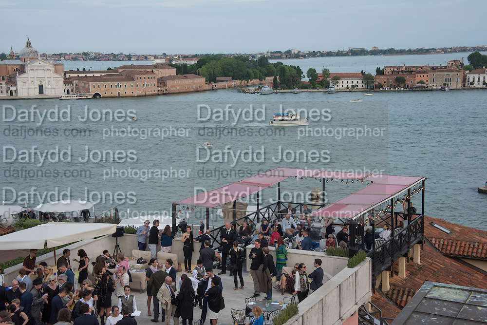 Absolut celebrate the winners of the 2015 Absolut Art prize. the award for art awarded to Frances Stark and the award for writing awarded to Mark Godfrey. Bauer Hotel Terrce, Venice Biennale, Venice. 8 May 2015