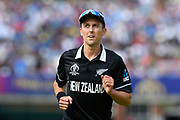 Trent Boult of New Zealand during the ICC Cricket World Cup 2019 Final match between New Zealand and England at Lord's Cricket Ground, St John's Wood, United Kingdom on 14 July 2019.