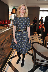 VICTORIA PATTINSON sister of actor Robert Pattinson at a lunch to launch Cash & Rocket on Tour 2013 hosted by Julia Brangstrup in aid of Orpan Aid and Shine on Sierrra Leone held at Banca, 40 North Audley Street, London on 29th April 2013.