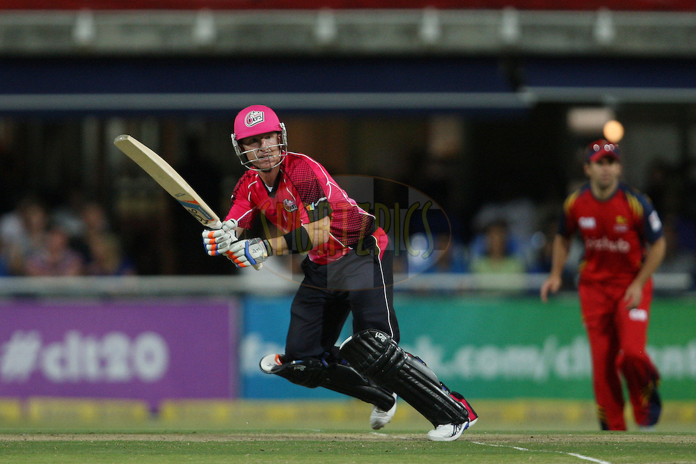 Brad Haddin during the Final in the Karbonn Smart CLT20 between the Sydney Sixers and the Highveld Lions held at the Wanderers Cricket Stadium, Johannesburg, South Africa on the 27th October 2012. Photo by Jacques Rossouw/SPORTZPICS/CLT20