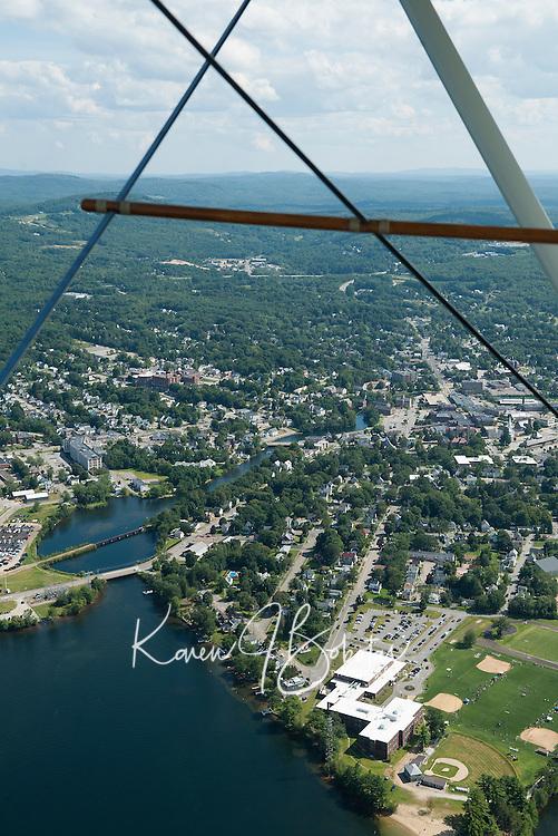 Lakes Biplane flight to Newport airport for flyin August 17, 2013.    © Karen Bobotas Photographer