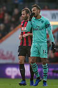Pierre-Emerick Aubameyang (Arsenal) during the Premier League match between Bournemouth and Arsenal at the Vitality Stadium, Bournemouth, England on 25 November 2018.
