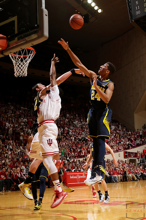 Michigan guard/forward Aubrey Dawkins (24) as Michigan played Indiana in an NCCA college basketball game in Bloomington, Ind., Sunday, Feb. 8, 2015. (AJ Mast / Photo))