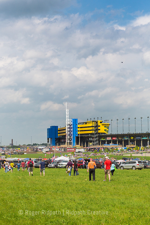 Parking area, Kansas Speedway 1.5 mile tri-oval suitable for all types of racing.