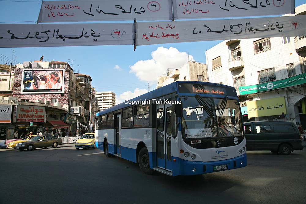 A bus in Amman, Jordan
