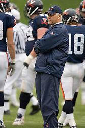 Virginia Cavaliers head coach Al Groh..The University of Virginia Football Team played their Spring game at Scott Stadium in Charlottesville, VA on April 14, 2007.