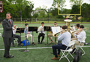 The CCHS Brass Ensemble performs during the Concord Carlisle High School graduation exercise for the Class of 2017 in Concord, June 3, 2017.   [Wicked Local Photo/James Jesson]