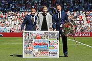 ALKMAAR - 23-08-15, AZ - Willem II, AFAS Stadion, 0-0, afscheid van Aron Johannsson, Earnest Stewart, Robert Eenhoorn.