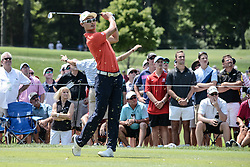 August 10, 2018 - Town And Country, Missouri, U.S - HAOTONG LI from China watches his tee shot on hole number three during round two of the 100th PGA Championship on Friday, August 10, 2018, held at Bellerive Country Club in Town and Country, MO (Photo credit Richard Ulreich / ZUMA Press) (Credit Image: © Richard Ulreich via ZUMA Wire)