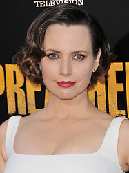 """Actress Julie Ann Emery arrives at AMC's """"Preacher"""" Season 2 Premiere Screening held at the Theater at the Ace Hotel in Los Angeles, CA on Tuesday, June 20, 2017.  (Photo By Sthanlee B. Mirador) *** Please Use Credit from Credit Field ***"""