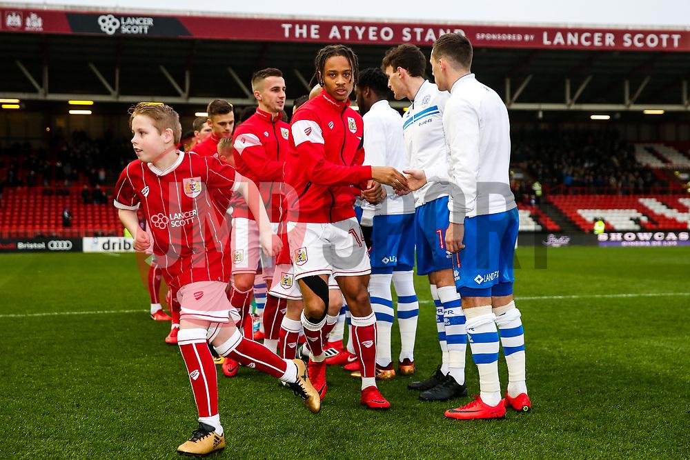 Bobby Reid looks on as Bristol City greet Queens Park Rangers before kick off - Rogan/JMP - 27/01/2018 - Ashton Gate Stadium - Bristol, England - Bristol City v Queens Park Rangers - Sky Bet Championship.