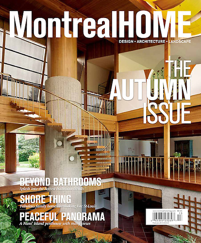 Cover Of Montreal Home Magazine, Autumn Issue 2011 | Design   Architecture    Landscape.