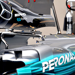 The bodywork of Valtteri Bottas's, Mercedes AMG Petronas F1 car.<br /> Day 1 of the 2017 Formula 1 Singapore airlines, Singapore Grand Prix, held at The Marina Bay street circuit, Singapore on the 14th September 2017.<br /> Wayne Neal | SportPix.org.uk