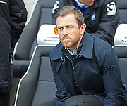 Birmingham City's Manager Gary Rowett during the Sky Bet Championship match between Brighton and Hove Albion and Birmingham City at the American Express Community Stadium, Brighton and Hove, England on 21 February 2015. Photo by Phil Duncan.