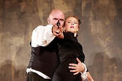 Anton Chekhov's Vaudevilles.Actinghouse Productions.Pt 1 The Harmfulness of Tobacco.Pt 2 The Bear.La Vittoria Bastion, Ospizio, Floriana.Malta Arts Festival 2008.Photo by Darrin Zammit Lupi