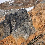 Columnar Basalt and volcanic plug, Salal Creek British Columbia