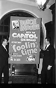 03/02/1964<br /> 02/03/1964<br /> 03 February 1964 <br /> Capitol Show Band and Pye Records reception for single 'Foolin' Time' at Country Club Portmarnock. Butch Moore (left) and Jim Doherty with the poster for the single 'Foolin' Time'.