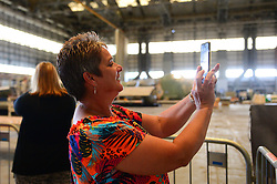 A general view of guests during a group tour of the proposed site of the YTL Arena inside the Brabazon Hangars at Filton Airport - Dougie Allward/JMP - 18/07/2019 - COMMERCIAL - YTL Developments - Bristol, England - YTL Arena Development at the Brabazon Hangar