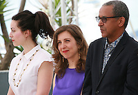 Director Rebecca Zlotowski, director Joana Hadjithomas, director Abderrahmane Sissako, at the Jury De La Cinefondation Et Des Courts Metrages  film photo call at the 68th Cannes Film Festival Thursday May 21st 2015, Cannes, France.