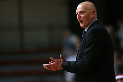 Coach of Geoplin Slovan Rudolf Jugo at basketball game Geoplin Slovan - Helios Domzale in in the second match of quarter-final of Spar Cup, on February 7, 2008 in Ljubljana, Slovenia.   (Photo by Vid Ponikvar / Sportal Images).