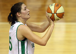 Sandra Pirsic at basketball qualification match of women division B  between National teams of Slovenia and Netherlands, on August 27, 2008, in Vitranc Hall, Kranjska Gora. Win of NED 83:81. (Photo by Vid Ponikvar / Sportida)