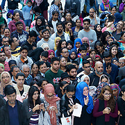 London,England,UK, 20th Aug 2016 : Hundreds from the Asian community waiting for hours at London's East Shopping Centre welcomes Bollywood Star Anil Kapoor star of the Season 2 '24' colour in London,UK. Photo by See Li/Picture Capital