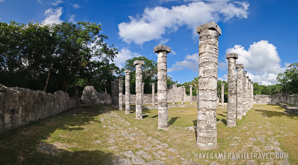 El Castillo (also known as Temple of Kuklcan) at the ancient Mayan ruins at Chichen Itza, Yucatan, Mexico