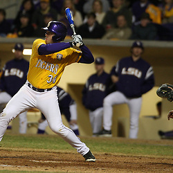 2009 February 20: LSU's Blake Dean at bat during a NCAA baseball match up between the #1 ranked LSU Tiger and the unranked Villanova Wilcats at the newly constructed Alex Box Stadium in Baton Rouge, Louisiana..