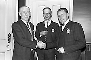 28/04/1964<br /> 04/28/1964<br /> 28 April 1964<br /> Watney Sales Conference at the Shelbourne Hotel, Dublin. At the conference were (l-r): Mr. J.A. Delaney; Mr. E. Plunkett and Mr. J.W. Stone.