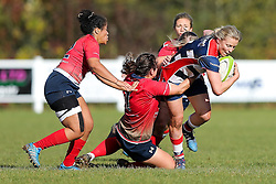 Claire Molloy of Bristol Ladies in action - Rogan Thomson/JMP - 16/10/2016 - RUGBY UNION - Cleve RFC - Bristol, England - Bristol Ladies Rugby v Lichfield Ladies - RFU Women's Premiership.