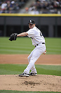 CHICAGO - APRIL 20:  Jake Peavy #44 of the Chicago White Sox pitches against the Minnesota Twins on April 20, 2013 at U.S. Cellular Field in Chicago, Illinois.  The Twins defeated the White Sox 2-1 .  (Photo by Ron Vesely)   Subject:  Jake Peavy