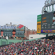 Fans at Fenway Park during the Boston Red Sox V Tampa Bay Rays, Major League Baseball game on Jackie Robinson Day, Fenway Park, Boston, Massachusetts, USA, 15th April, 2013. Photo Tim Clayton