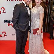 NLD/Amsterdam/20151214 - Film premiere Mannenharten 2, Fabian Jansen en Barbara Sloesen