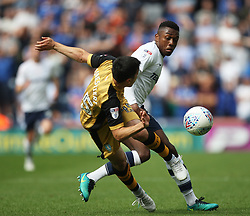 Fernando Forestieri of Sheffield Wednesday (L) and Darnell Fisher of Preston North End in action - Mandatory by-line: Jack Phillips/JMP - 05/08/2017 - FOOTBALL - Deepdale - Preston, England - Preston North End v Sheffield Wednesday - English Football League Championship
