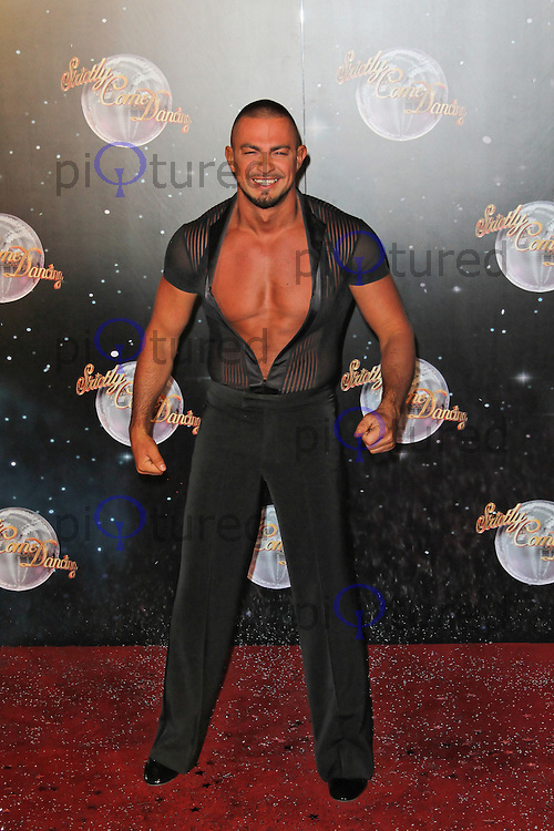 LONDON - SEPTEMBER 11: Robin Windsor attended the Strictly Come Dancing Launch at the BBC Television Centre, London, UK. September 11, 2012. (Photo by Richard Goldschmidt)